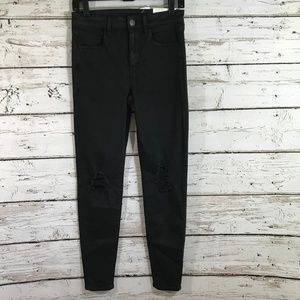 American Eagle NWT Black Distressed Leggings